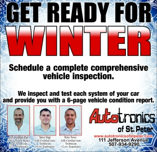 Get Ready for Winter, Autotronics of St. Peter, St.peter, MN