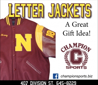 Letter Jackets, Champion Sports, Northfield, MN
