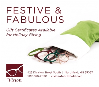 Gift Certificates, Vision of Northfield, Northfield, MN