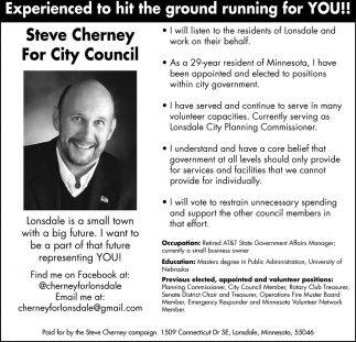 Steve Cherney for City Council, Steve Cherney