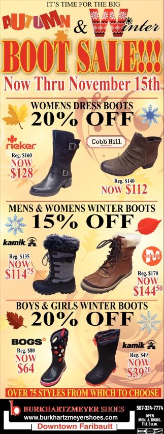 Autumn & Winter Boot Sale!