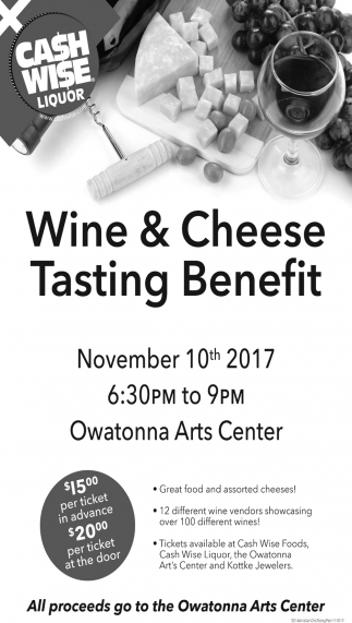 Wine & Cheese Tasting Benefit
