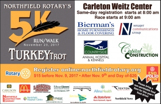 5k Run/Walk, The Rotary Club of Northfield