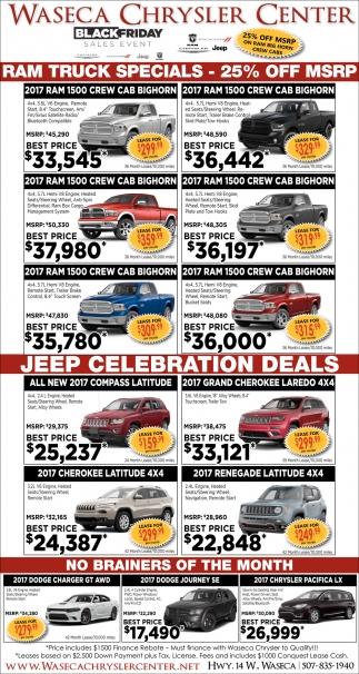 RAM Truck Specials / Jeep Celebration Deals