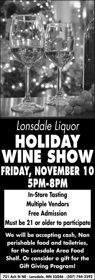 Holiday Wine Show