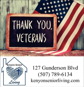 Thank You, Veterans, Kenyon Senior Living, Kenyon, MN