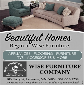 Beautiful Homes Begin at Wise Furniture