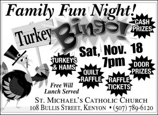 Turkey Bingo!