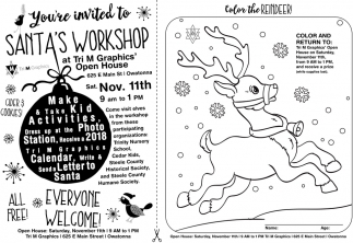 Santa Workshop for Kids, Tri M Graphics, Owatonna, MN