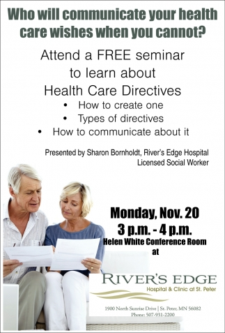 Free Seminar: Health Care Directives