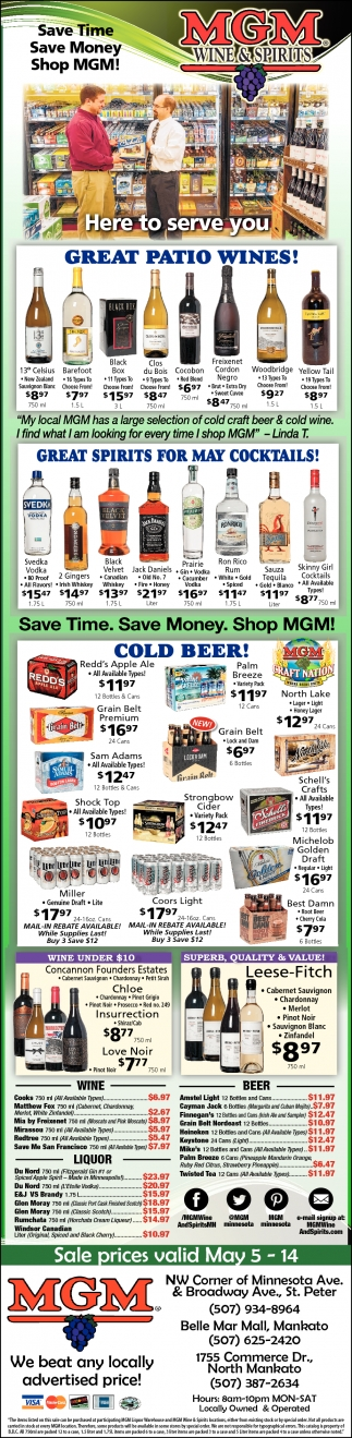 Save Time Save Money Shop`MGM!