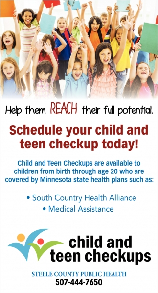 Child And Teen Checkups, Steele County Public Health, Owatonna, MN