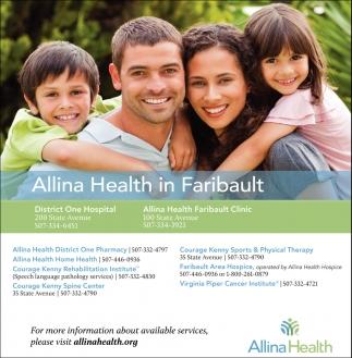 Allina Health in Faribault
