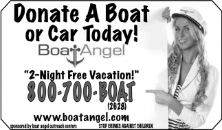 Donate A Boat or Car Today!, Boat Angel, Waseca, MN