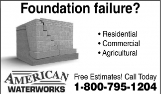 Foundation failure?, American Waterworks, Waseca, MN