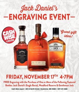 Jack Daniel's Engraving Event