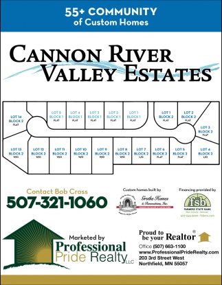 Cannon River Valley Estates, Professional Pride Realty, Northfield, MN