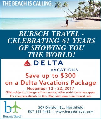 Save up to $300 on a Delta Vacations Package