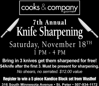 7th Annual Knife Sharpening