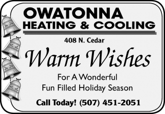Warm Wishes, Owatonna Heating & Cooling, Owatonna, MN