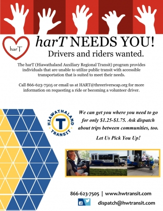 Drivers and riders wanted, Hiawathaland Transit, Plainview, MN