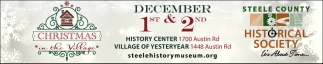 Christmas in the Village, Steele County Historical Society, Owatonna, MN