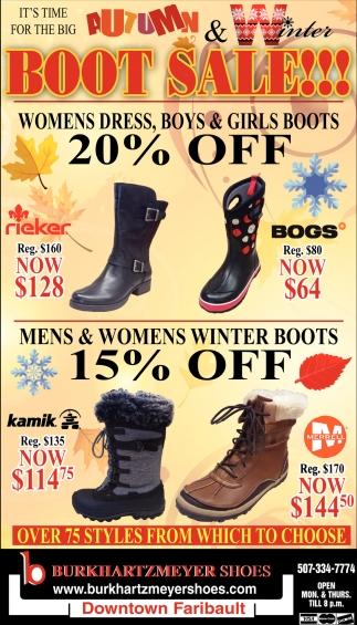 Autumn Boot Sale!