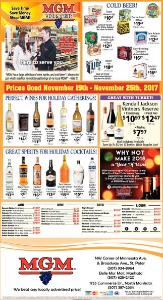 Prices God November 19th - 25th, 2017