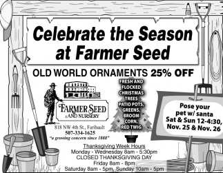 Celebrate the Season at Farmer Seed