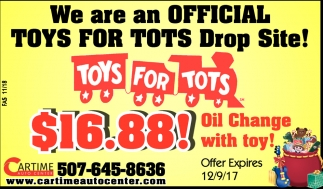 Toys for Tots, Car Time Auto Center, Dundas, MN