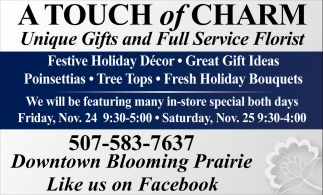 Unique Gifts and Full Service Florist