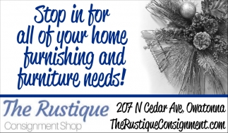 Home furnishing and decor, The Rustique Consignment Shop
