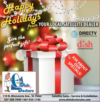 Happy Holidays, The Dish Doctors Inc, St.peter, MN