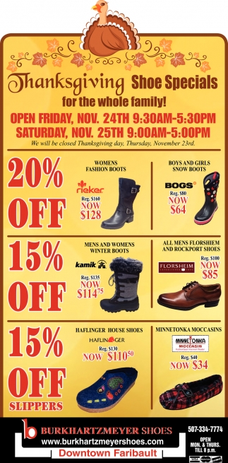 Thanksgiving Shoe Special