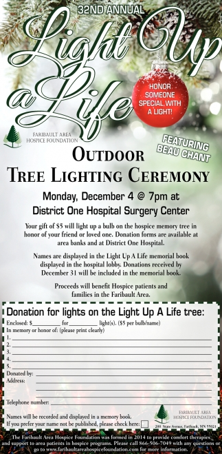 32st Annual Light Up a Life