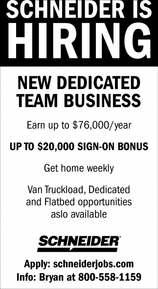 New Dedicated Team Business