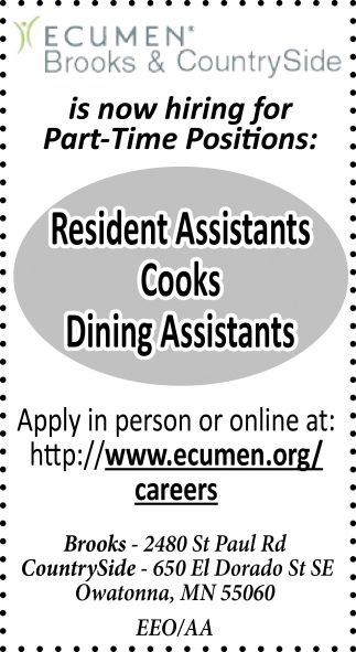 Part-Time Positions