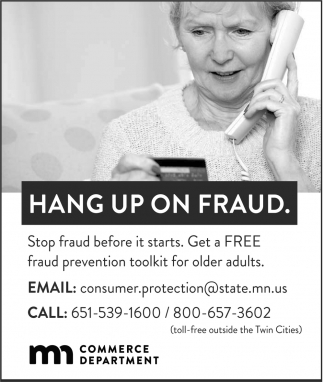 Hang up on fraud, Minnesota Department of Commerce
