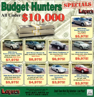 Budget Hunters All Under $10,000