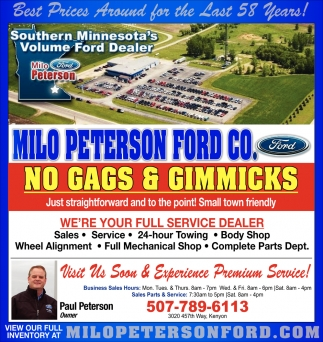 Best Prices Around for the Last 58 years!