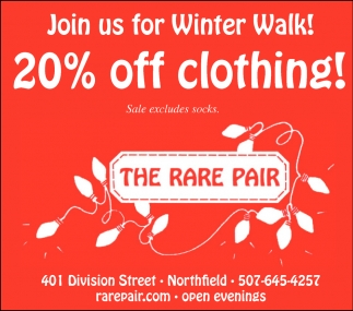 20% off clothing!