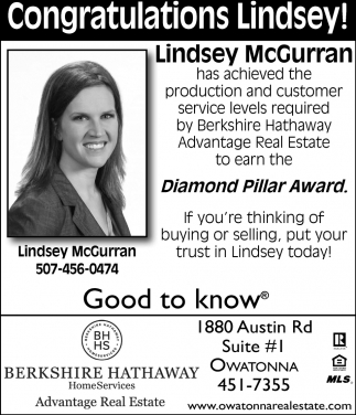 Lindsey McGurran Diamond Pillar Award
