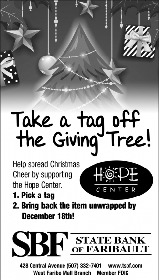 Take a tag off the Giving Tree!