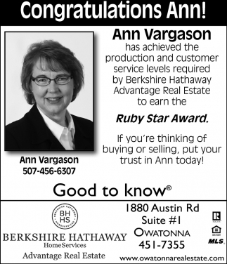Ann Vargason Ruby Star Award