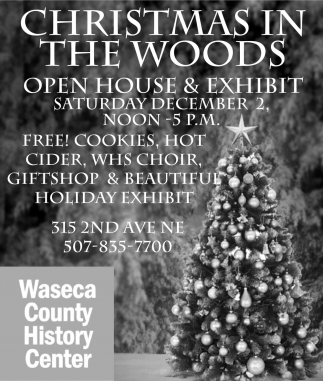 Christmas in the woods, Waseca County History Center, Waseca, MN