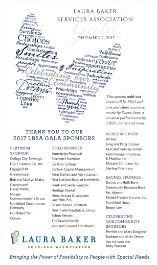 Thank you to our 2017 LBSA Gala Sponsors