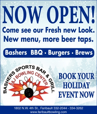 Book your holiday event now!, J&J Bowling Center, Faribault, MN