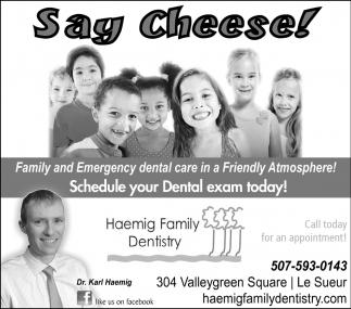 Schedule your Dental exam today!