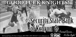 Good Luck Knights!