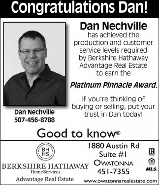 Dan Nechville Platinum Pinnacle Award